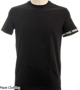 Dsquared Logo Arm T Shirt Black