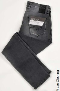 Replay Anbass Hyperflex Bio Charcoal Jean