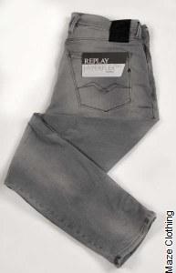 Replay Anbass Hyperflex Bio Grey Jean