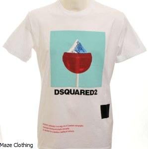 DSquared Mountain T Shirt White
