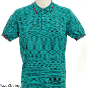 Missoni Knitted Polo Aqua
