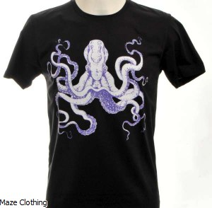 Bulletto Octopus Tee Black