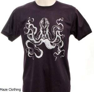 Bulletto Octopus Tee Burgundy