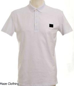 Antony Morato Badge Logo Polo Shirt White