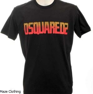 DSquared Retro T Shirt Black
