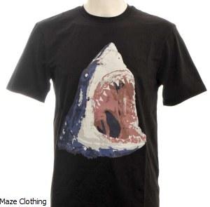 Untitled Atelier Shark T Shirt Black