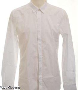 Antony Morato Hidden Placket Shirt White