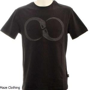Cavalli Class Snake T Shirt Black