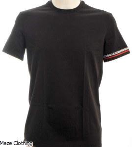 Dsquared Logo Band T Shirt Black