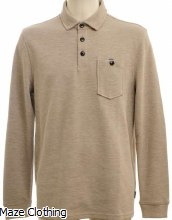 Ted Baker Akt Polo Shirt Beige