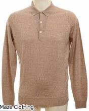 John Smedley Belper Polo Shirt Beige