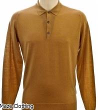 John Smedley Belper Polo Shirt Camel