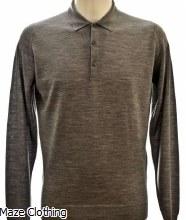 John Smedley Belper Polo Shirt Grey