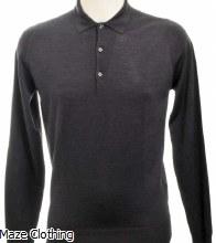 John Smedley Belper Polo Shirt Smoke