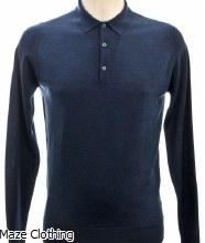 John Smedley Belper Polo Shirt Indigo