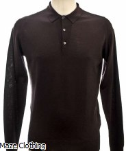 John Smedley Belper Polo Shirt Purple