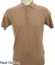 John Smedley Brushwood Polo Shirt Beige