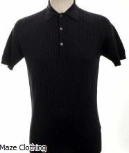 John Smedley Brushwood Polo Shirt Navy