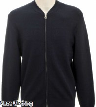 Matinique Cardo Zip Thru Knit Navy