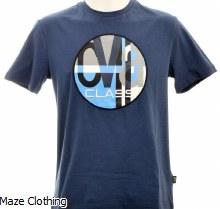 Cavalli Class Circle Logo T Shirt Blue