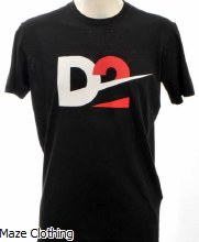 DSquared D2 Logo Tee Black