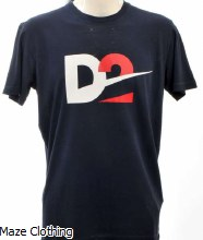 DSquared D2 Logo Tee Navy