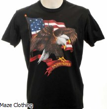 DSquared Eagle T Shirt Black