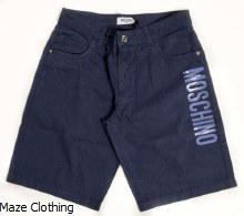 Moschino Kids Gaberdene Short Navy