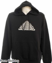 Lagerfeld Logo Hoody Black