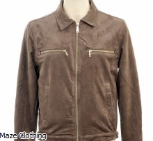 Azat Mard Suede Jacket Grey
