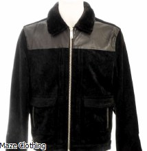 Azat Mard Fur Collar Jacket Black