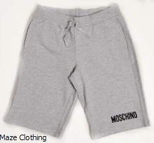 Moschino Kids Jersey Short Grey