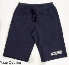 Moschino Kids Jersey Short Navy