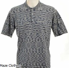 Missoni Knit Stripe Polo Navy