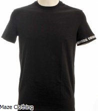 Dsquared Logo Arm T Shirt Black