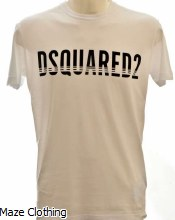 DSquared Lines Logo T Shirt White