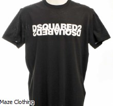 DSquared2 Reverse Logo Tee Black