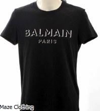 Balmain Logo T Shirt Black
