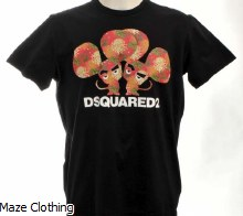 DSquared2 Mice T Shirt Black