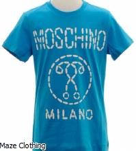 Moschino Kids Milano T Shirt Blue