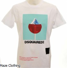 DSquared Mountain T Shirt White