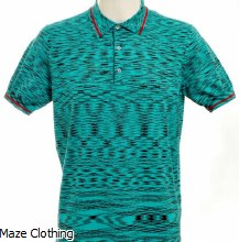 Missoni Knitted Polo Aqua