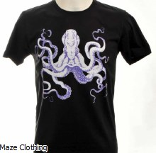 Bulletto Octopus Tee Black