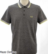 Hugo Boss Paddy Polo Shirt Grey