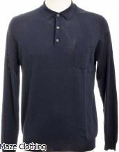 Antony Morato Knitted Polo Navy