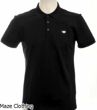 Antony Morato Metal Logo Polo Black