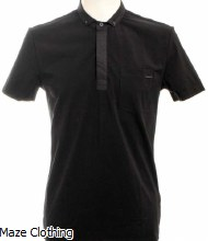 Antony Morato Button Down Polo Black