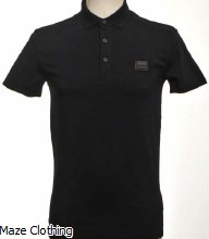 Antony Morato Badge Logo Polo Shirt Navy