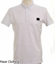 Antony Morato Badge Logo Polo Shirt White