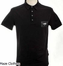 Cavalli Class Logo Polo Shirt Black